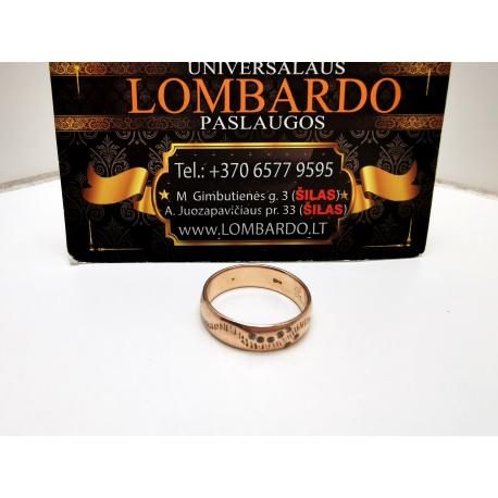 Auksinis žiedas 5,84g.